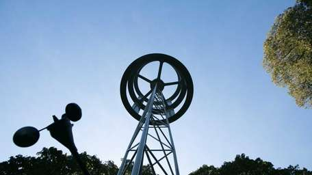 The wind generator in front of Asharoken Judge