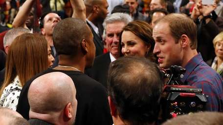 From left, Beyoncé, Jay Z, Kate Middleton and