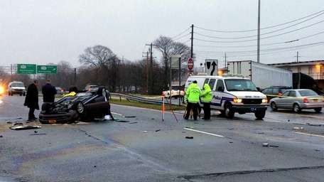 Suffolk County police investigate a fatal accident early