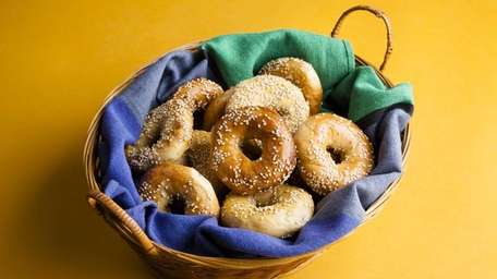 Fairway's sesame mini-bagels are a favorite of Long