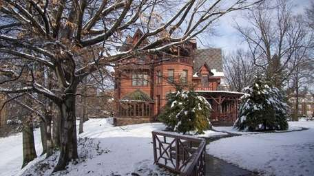 The house where Mark Twain lived in Hartford,