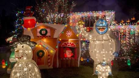 Holiday lights shine bright at the Pfeiffer home