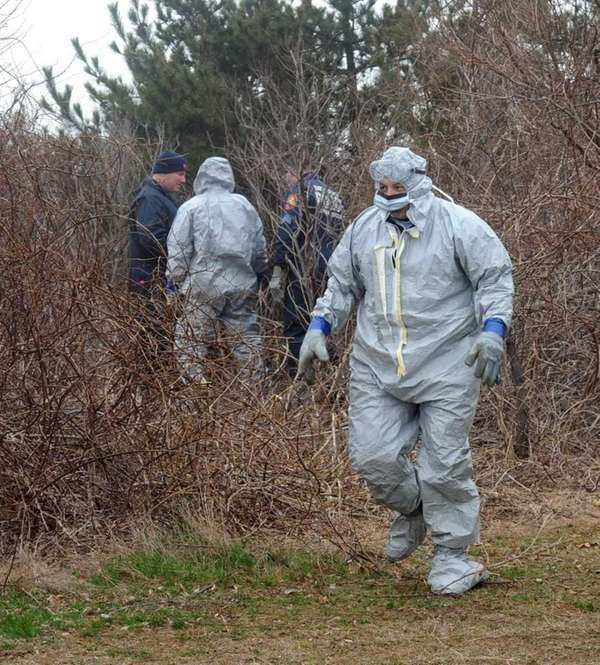 An unidentified adult female's bones were found in