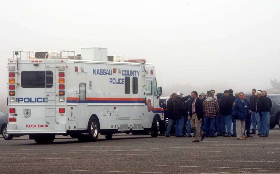 State and Nassau police, seen on April 11,