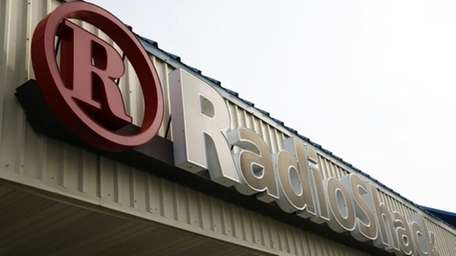 A RadioShack store sign in Philadelphia on March