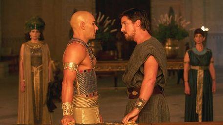 Joel Edgerton and Christian Bale in a scene