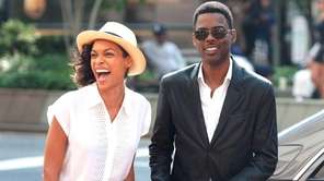 "Rosario Dawson and Chris Rock in ""Top Five,"""