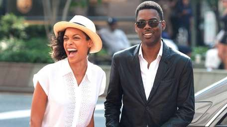 Rosario Dawson and Chris Rock in