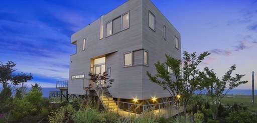 This box-shaped home in Westhampton Beach is just