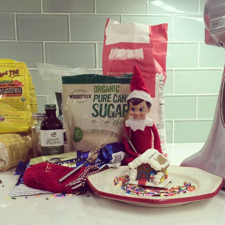 The King family's elf is making a mess
