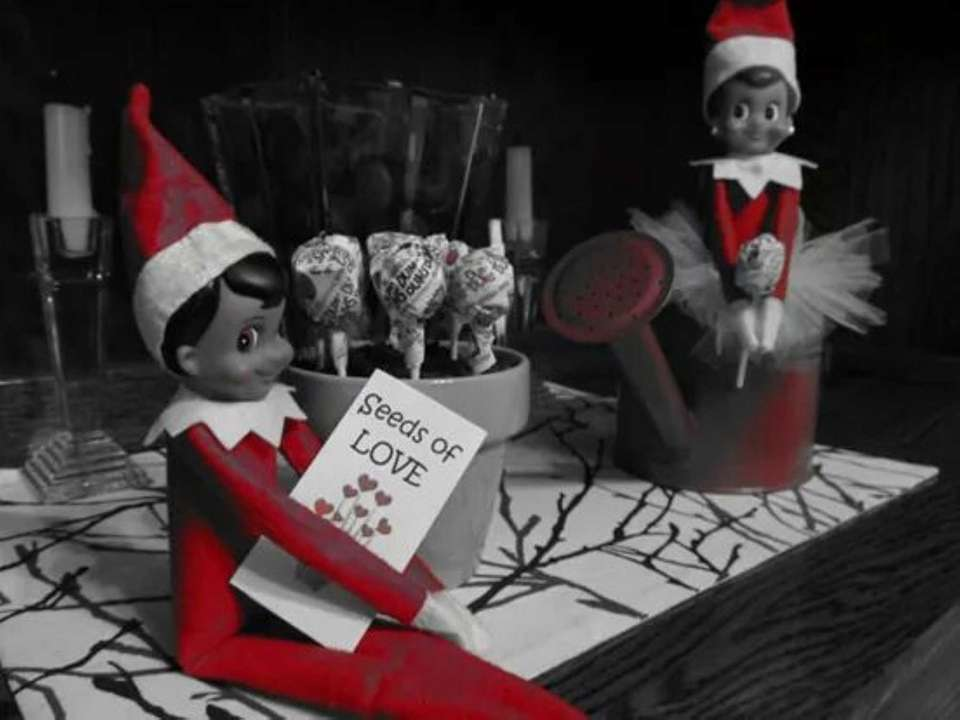 Our elves Scout, Snoel & Frosty Present are