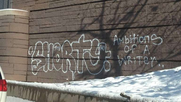 Graffiti along the Cross Island Parkway provided by