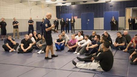 New York Mayor Bill de Blasio and police