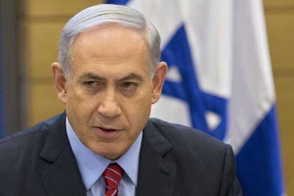 Israeli Prime Minister Benjamin Netanyahu speaks during a