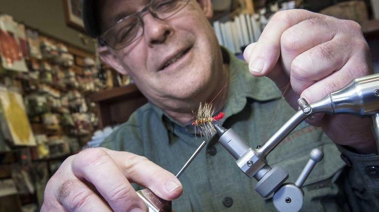 Paul B. McCain demonstrates how to make flies