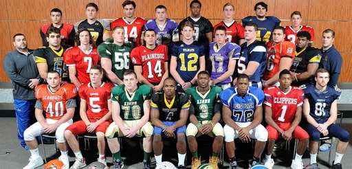 The 2014 Newsday All-Long Island football team poses