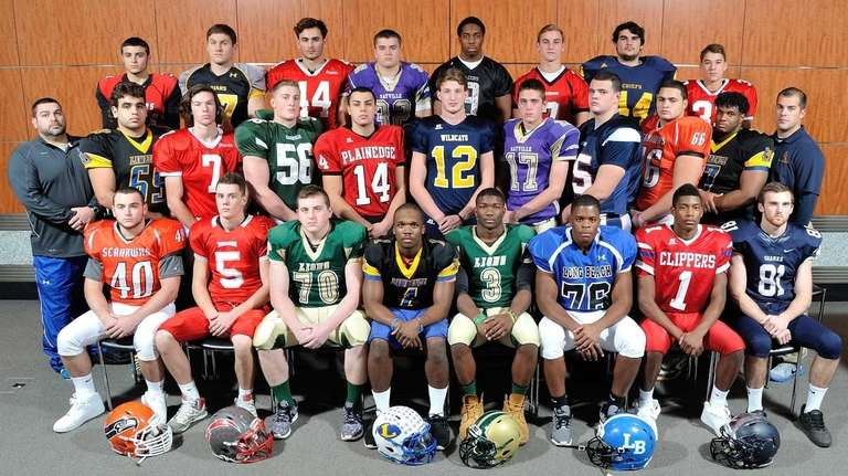 The 2014 Newsday All-Long Island football team poses