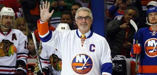 Former New York Islander Clark Gillies is honored