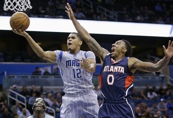 Orlando Magic's Tobias Harris gets past Atlanta Hawks'