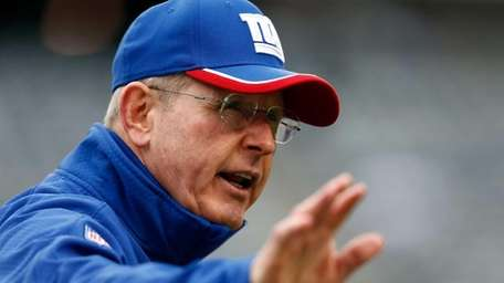 Head coach Tom Coughlin of the New York