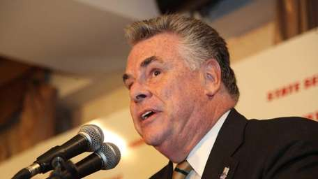Rep. Peter King (R-Seaford) in Westbury on Tuesday,