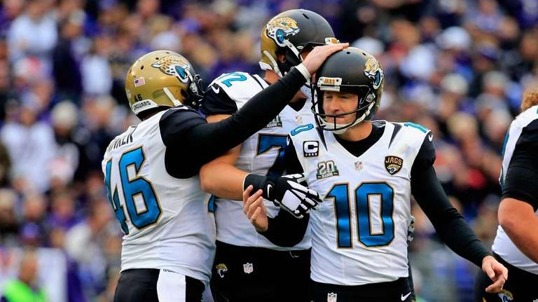 Kicker Josh Scobee #10 of the Jacksonville Jaguars
