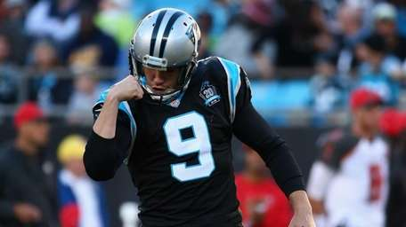 Graham Gano #9 of the Carolina Panthers celebrates