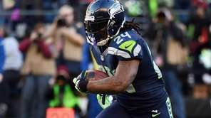 Running back Marshawn Lynch #24 of the Seattle