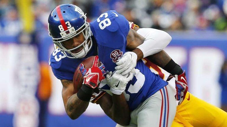 Preston Parker of the New York Giants hauls