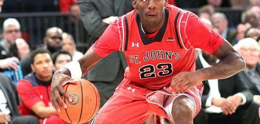 St. John's Rysheed Jordan (23) dribbles the ball