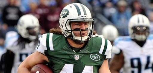 Zach Sudfeld #44 of the New York Jets