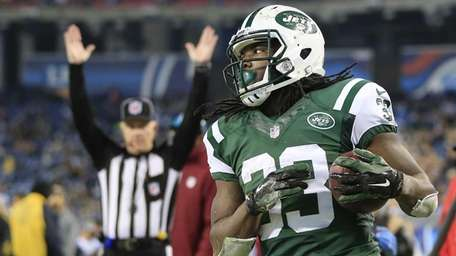 New York Jets running back Chris Ivory (33)