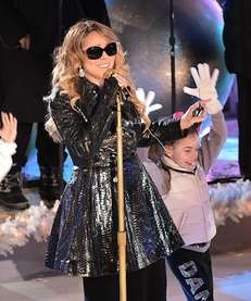 Mariah Carey performs at the 82nd annual Rockefeller