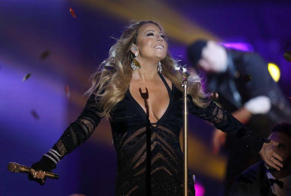 Mariah Carey performs during the World Music Awards