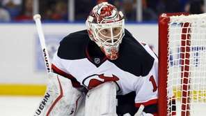 Keith Kinkaid #1 of the New Jersey Devils