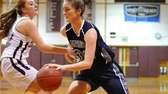 Huntington's Samantha Lynch, right, gets pressured by Kings