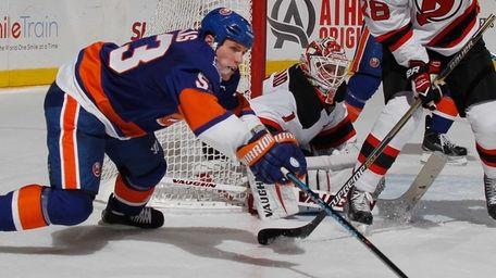 Casey Cizikas #53 of the New York Islanders