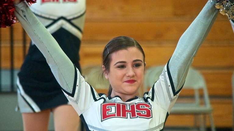 Mikaela Naccarato competed in pom in her first