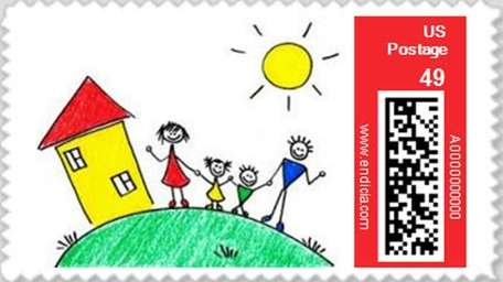 Turn your child's artwork into postage stamps on