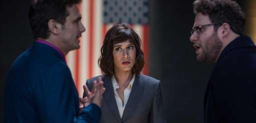 Lacey (Lizzy Caplan) with Dave (James Franco) and