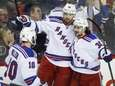 The New York Rangers' Rick Nash, center, celebrates