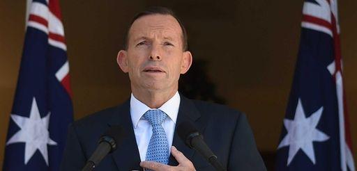 Australian Prime Minister Tony Abbott speaks during a