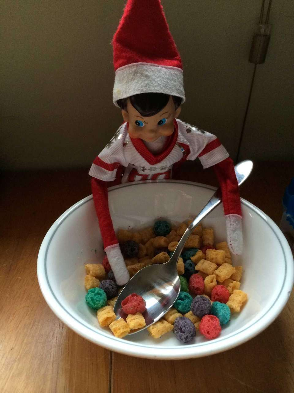 Our elf got into some mischief by eating
