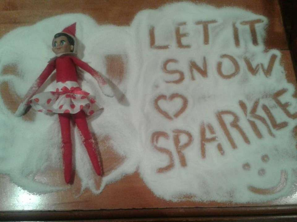 Sparkle the elf leaves a message.