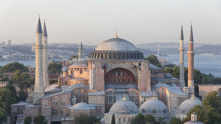 Istanbulu0027s Landmark Hagia Sophia At Sunset, With The