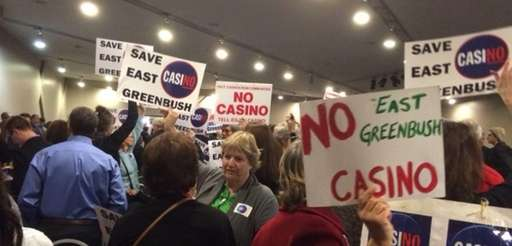Proponents and opponents of casinos gathered Dec. 17,
