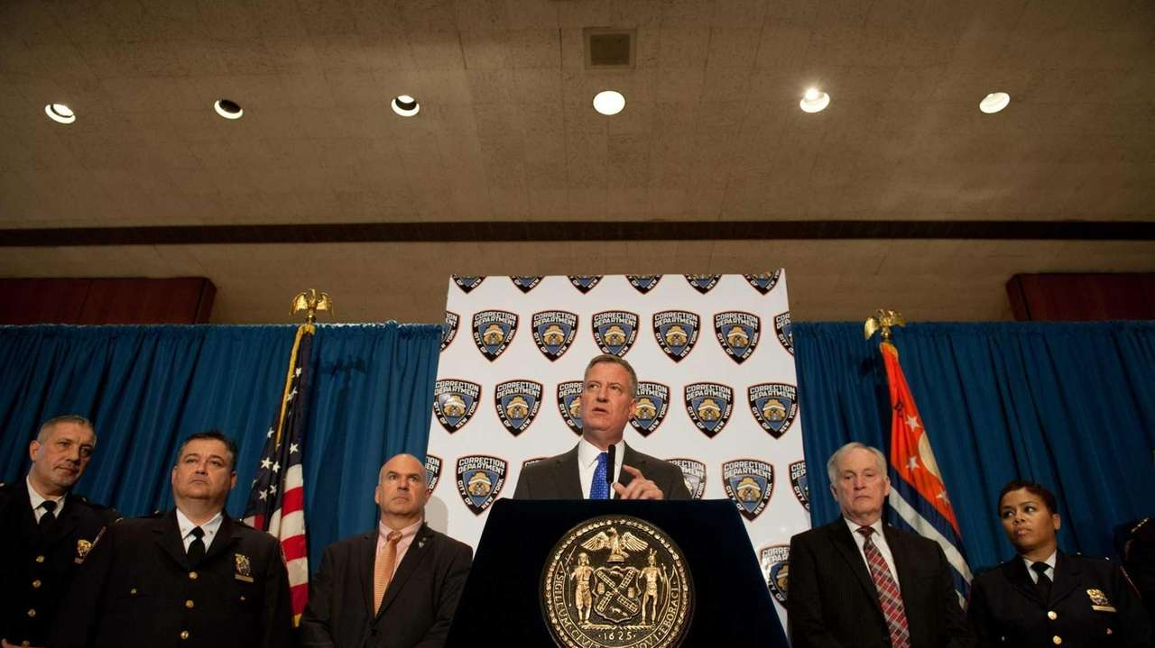 Mayor Bill de Blasio and Department of Corrections
