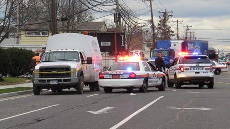 Nassau County Police responded to a pedestrian struck