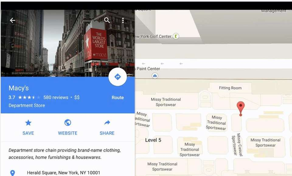 The Google Maps app has comprehensive maps in