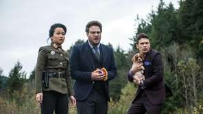 From left, Diana Bang, as Sook, Seth Rogen,